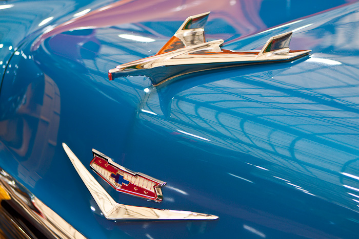 Hood ornament - 1956 Chevrolet Bel Air