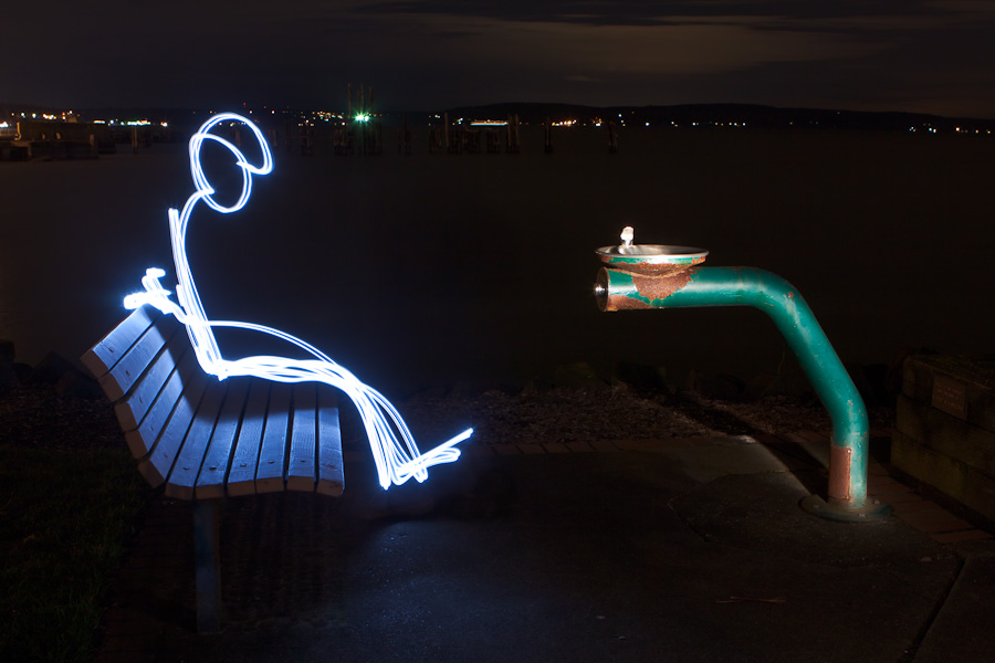 Light Man on Bench