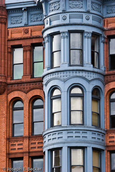 Details of buildings in Pioneer Square, Seattle