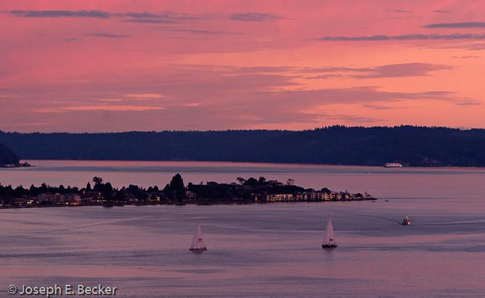 Alki Point at Sunset