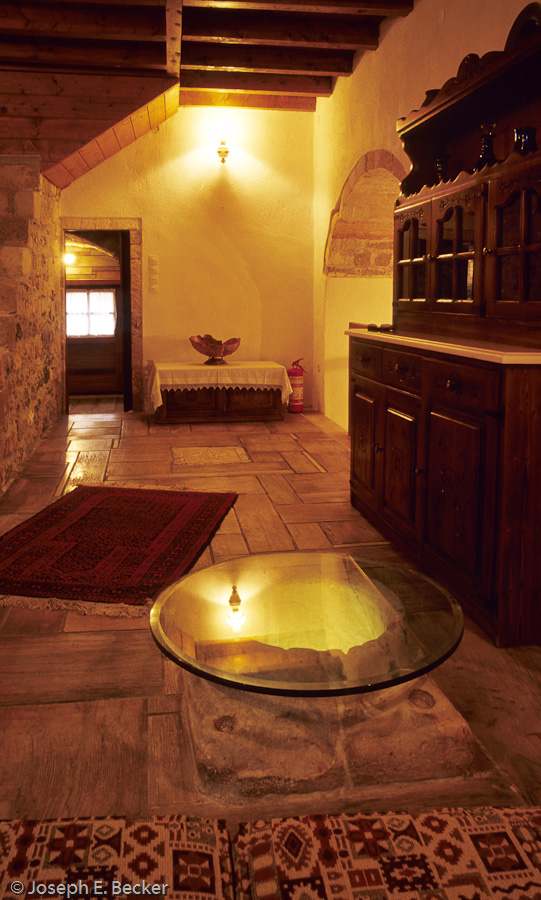 Room with a cistern