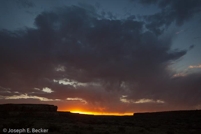 Sunrise at Chaco Canyon