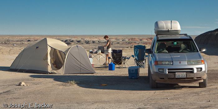 Camping at Bisti