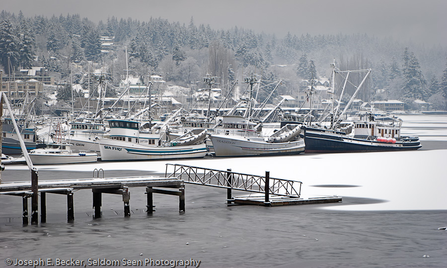 Snow on the Harbor