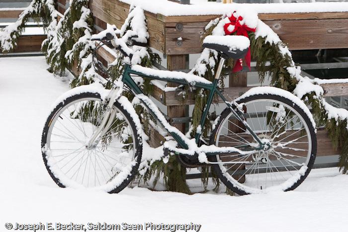 Snow on Bike
