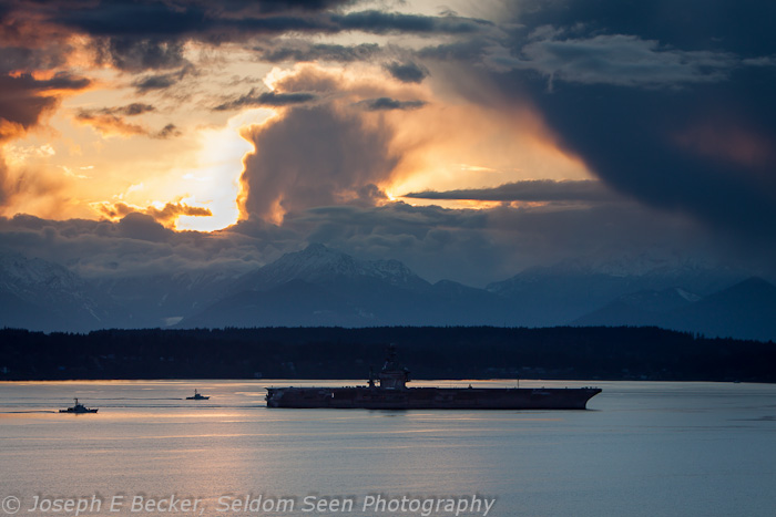 Carrier at Sunset