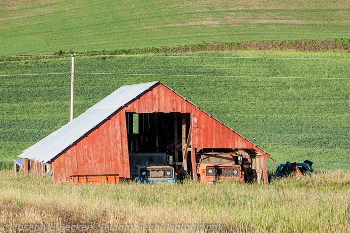 Barn and Trucks
