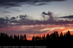 Sunset and CrescentMoon
