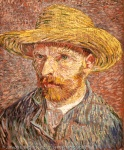 """van Gogh's """"Self Portrait with a StrawHat"""""""
