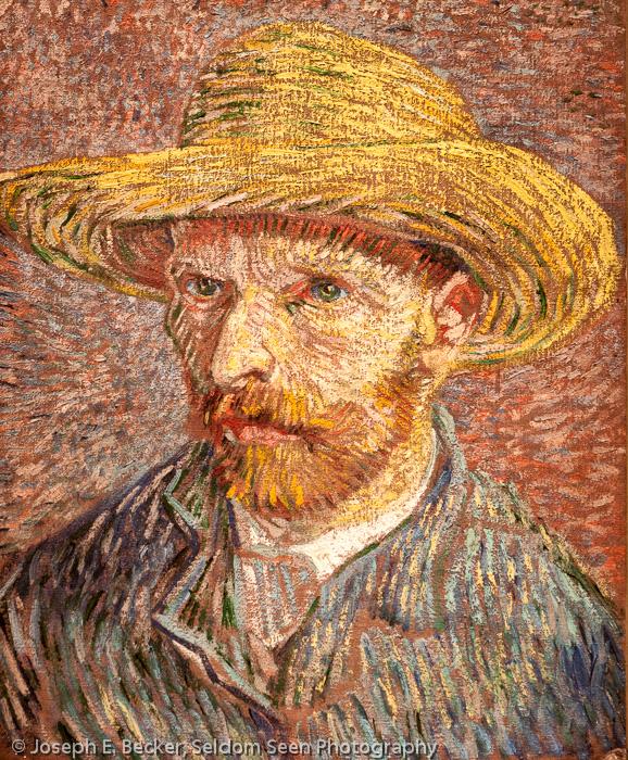 "van Gogh's ""Self Portrait with a Straw Hat"""