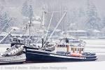 Fishing boat in winter at Gig Harbor, Washington,Usa