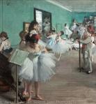 The Dance Class by Degas with custom whitebalance