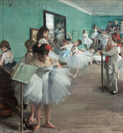 The Dance Class by Degas with custom white balance