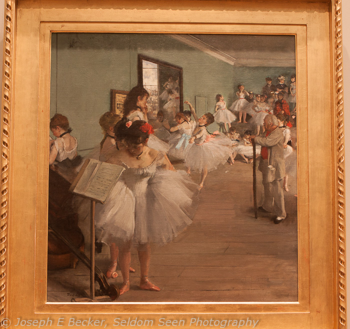 The Dance Class by Degas with auto white balance