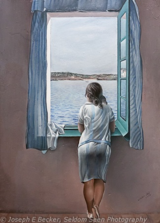 Girl at the Window by Dali