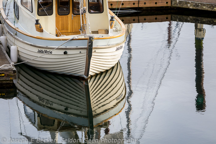 Bainbridge Boat Reflection