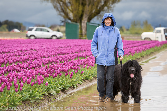 Tanya and Carson with Tulips
