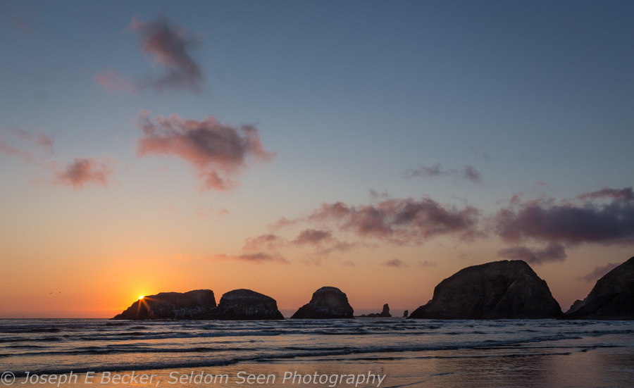 Sunset at Northern Cannon Beach