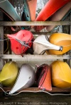 Colorful Canoes andKayaks