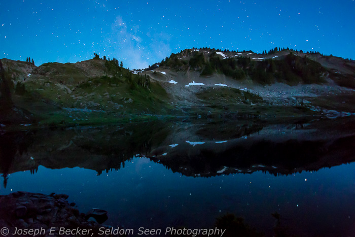 Lunch Lake and Milky Way