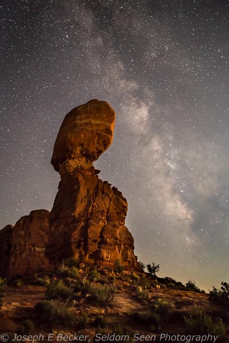 Balanced Rock by Moonlight