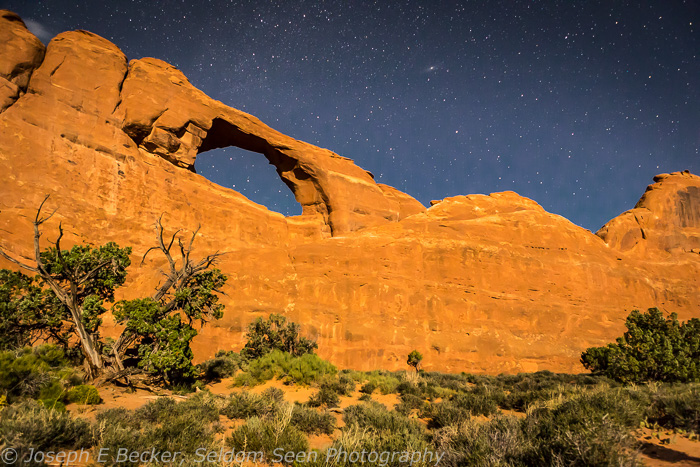 Moonlight at Skyline Arch