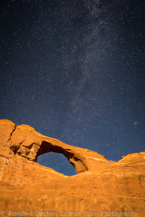 Skyline Arch and Stars