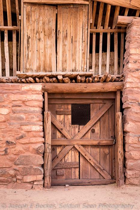 Hubbell Barn Entrance