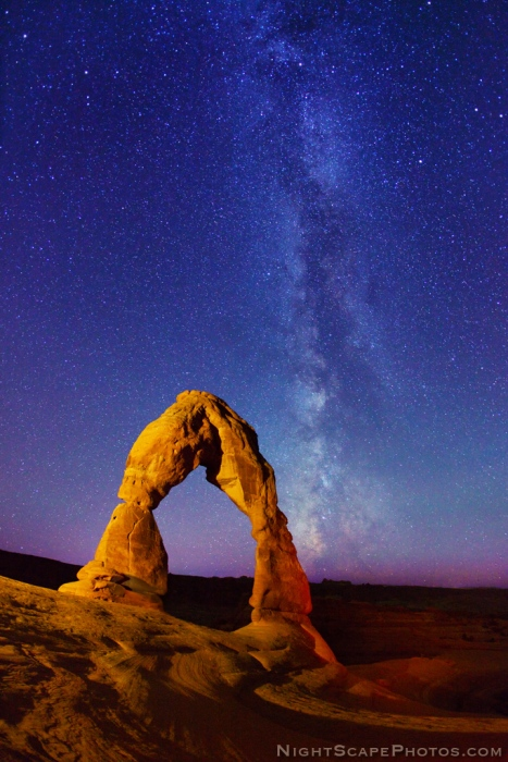 Delicate Arch and Milky Way