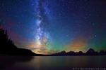 Stars, Milky Way, Jackson Lake, Grand TetonNP