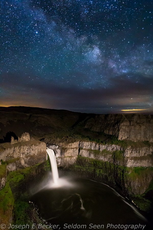 Night at Palouse Falls