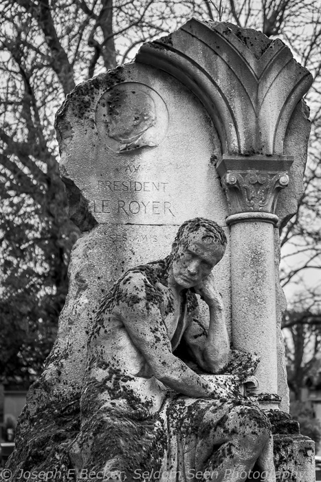 Grave of Philippe Le Royer, Père Lachaise Cemetery, Paris; ISO 3200, f/5, 1/125 sec. Another outside shot where I could have used a tripod but wasn't carrying it with me.