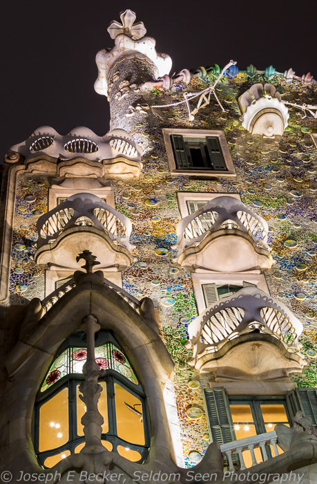 Close up on the Casa Batlló