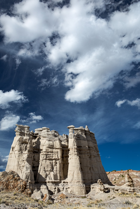 Some of the white limestone formations at Plaza Blanca