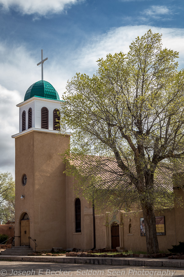 The church in Los Cerrillos, New Mexico