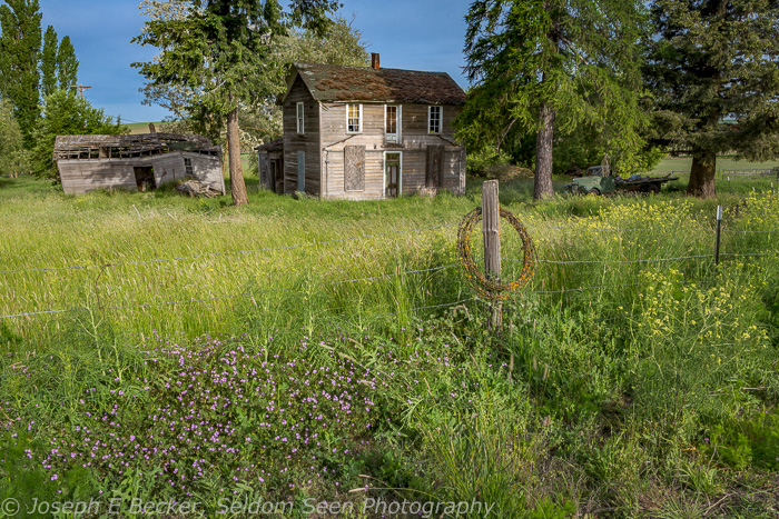 I found this abandoned house and truck on the Washington - Idaho state line east of Colton.
