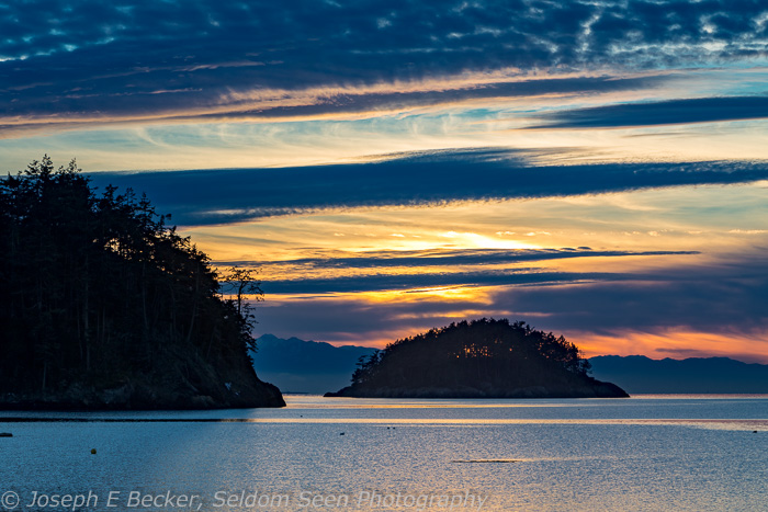 We ended the day with this sunset at Deception Pass State Park.